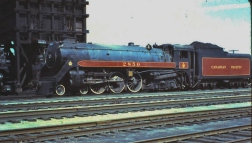 CPR #2850 - Winnipeg Manitoba 8/24/57 (Credit: Peter Cox)