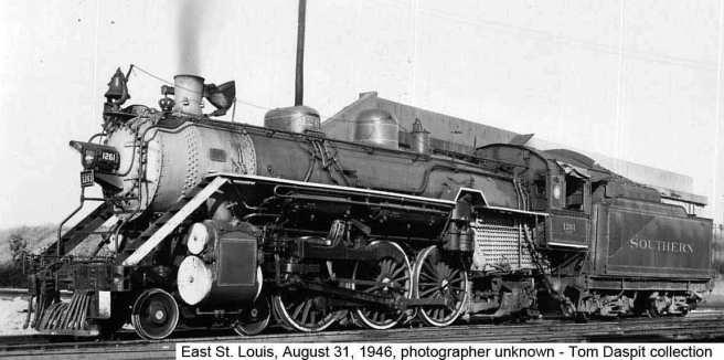Sou Rwy #1261 - East St. Louis, MO - 8/31/46 (Credit: Tom Daspit)